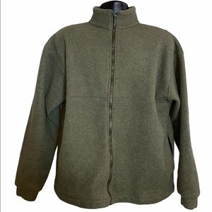 Nordic Ware Mens Green Fleece Full Zip Jacket L